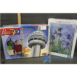 3D Puzzle CN Tower & Eurographics Puzzle