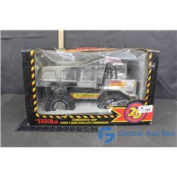 NIB Silver Tonka Dump Truck - 25th Anniversary Edition