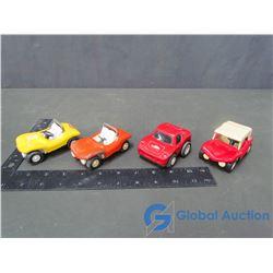 (4) Tonka Metal Cars