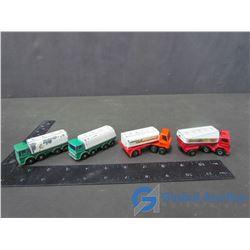 (4) Matchbox Tanker Trucks