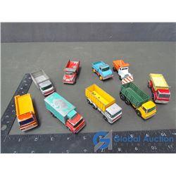 (9) Matchbox Lesney Trucks