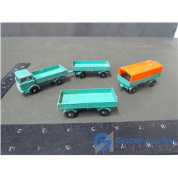 Matchbox by Lesney Truck & 3 Trailers w/ Narrow Tires