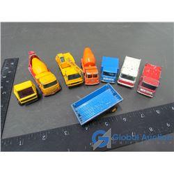 (7) Matchbox by Lesney Trucks w/ Narrow Tires