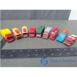 (9) Matchbox by Lesney Trucks w/ Narrow Tires