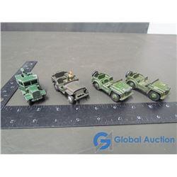 Dinky Army Jeeps (BID PRICE TIMES 4)