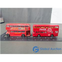 (2) Dinky Double Decker Buses