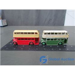 (2) Dinky Meccano Double Decker Buses