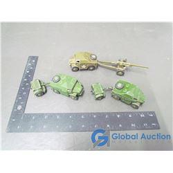 Dinky Artillery Tractor & Gun; Dinky Artillery Tractors w/Trailers (BID PRICE TIMES 3)