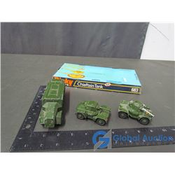 (2) Dinky Armoured Cars & Armoured Command Vehicle