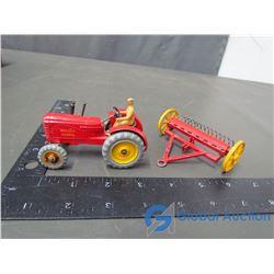 Dinky Massey Harris Tractor & Rake