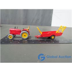 Dinky Massey Harris Tractor & Hay Wagon