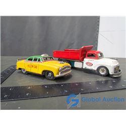 Metal Dump Truck & Taxi