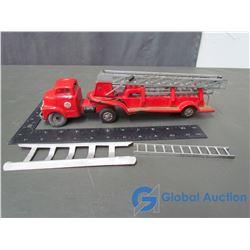 Vintage Metal Ladder Truck