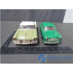1957 Ford Tin Friction Drive Car & Plastic Friction Drive Car