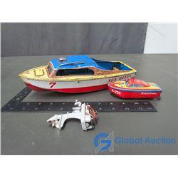 (1) Large & (1) Small Tin Boats