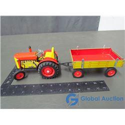 Tin Tractor & Trailer