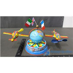 Tin Wind Up Air Plane Toy