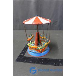 Tin Wind Up Carousel