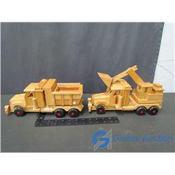 Wooden Dump Truck & Excavator Truck