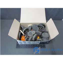 Box of Assorted Tires & Axles