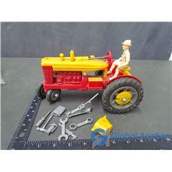 Plastic Marx Toy Tractor & Tools