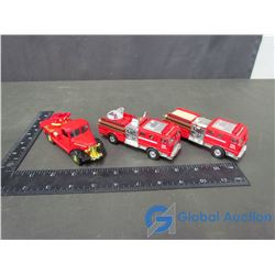 (3) Toy Fire Trucks