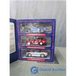 3 Piece Shelby Cobra Die Cast Set Models 1:18 Scale