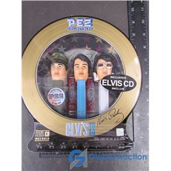 Elvis PEZ Collectibles - Still Sealed in Case - Includes Elvis CD