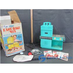 Vintage Kenner's Original Easy Bake Oven w/ Original Box & Recipes