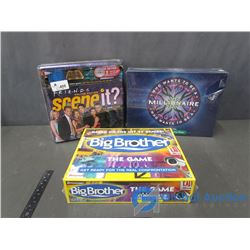 (3) Unopened Board Games - Big Brother; Who Wants to be a Millionaire & Friends Scene It DVD Game