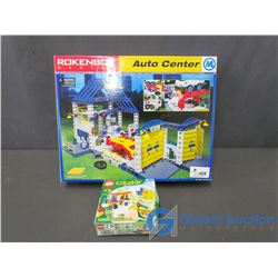 Rokenbok Auto Center System & 53 Piece Lego Set