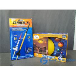 Tandem-X Model Rocket Launch Set & Bedroom Solar System Set