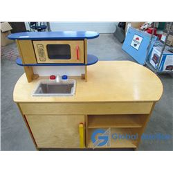 Large Wooden Kitchen Play Center