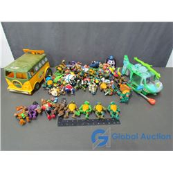 Large Assortment of Ninja Turtle Toys