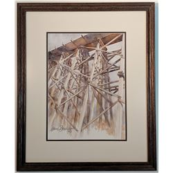 "Diana Brady, ""Trestle Mania"" watercolor painting, 10"" x 14"""
