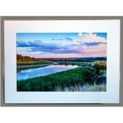 "Michael Peterson, ""Missouri River,"" framed photograph"