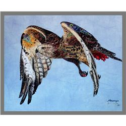 """Gerri Campbell, """"Messenger,"""" Art Quilt"""