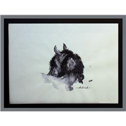 """Shakinah Brzezinski, """"Daring,"""" Ink on Paper"""