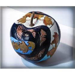 """Clint Loomis, """"Fall,"""" carved gourd"""