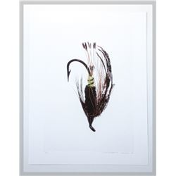 "David Wharton, ""Fly Print 2/20,"" lithographic print on paper"