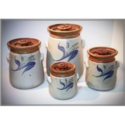 "Ken Edwards, ""4 Kitchen Cannisters,"" stoneware"