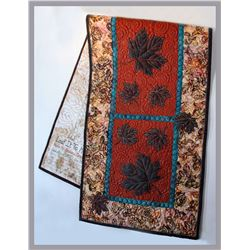 "Shawna Crawford, ""Leaf it to Me,"" quilted table runner"