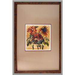 "Linda Tullis, ""Sun Ripened 1/1,"" Monoprint on paper"