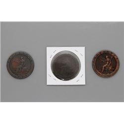 3 1797 Rare 2 ounce Cartwheel pennies