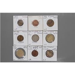 9 Assorted coins