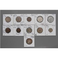 11 Assorted coins