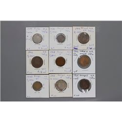 9 India Assorted coins