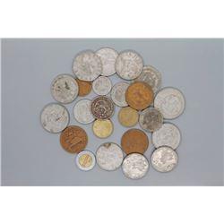 23 Mexican coins