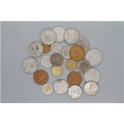 23 Mexican coins