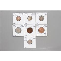7 Assorted USA Phillipine Coins